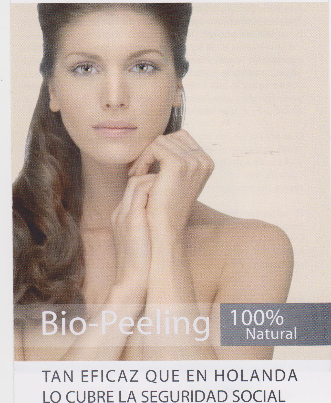 Piel tersa por tratamiento facial peeling