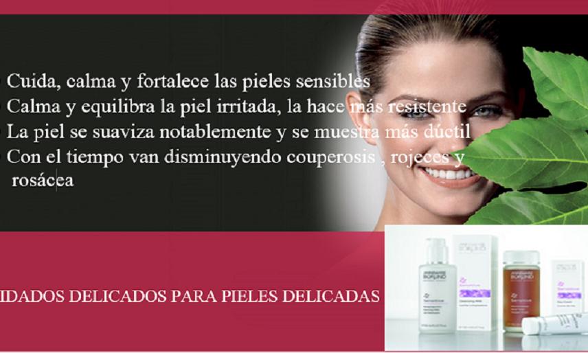Cuidado especial para pieles sensibles e irritadas.
