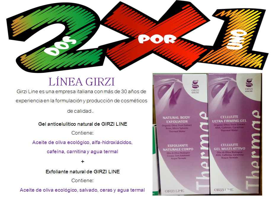 oferta dos por uno crema anticelulítica más crema exfoliante
