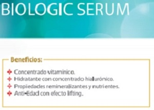 Serum biológico a base de productos vegetales.