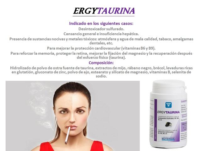 Ergytaurina favorece la desintoxicación del organismo