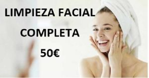Oferta limpieza facial completa