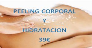 Oferta de peeling corporal más hidratación